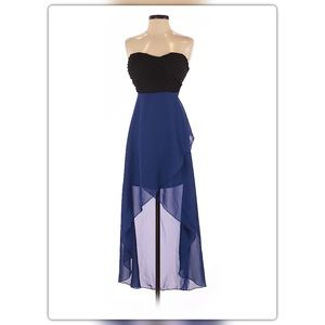 🆕 Wet Seal strapless blue and black dress